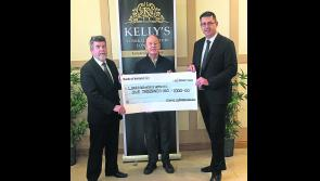 Kelly's Funeral Directors present €1,000 to Longford Hospice Homecare