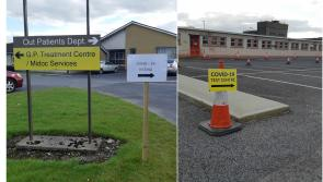 Covid-19 coronavirus test site being set up at St Joseph's care centre in Longford