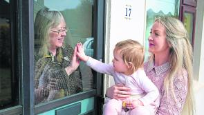 'Mother's Day highlights the distance' as Longford child visits granny through a window pane