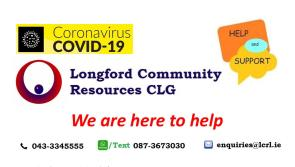 Longford Community Resources open for business and responding to local community needs during the Covid-19 crisis