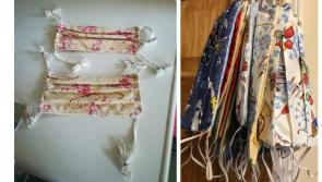 Longford ICA members sewing  Scrubs for Ireland