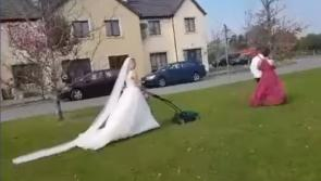 WATCH | Rathowen women get dolled up to mow the lawn and play camogie