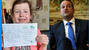 Young Longford girl pens postcard praising An Taoiseach Leo Varadkar for keeping the country safe