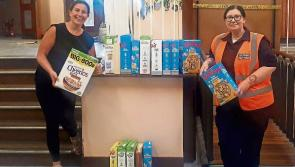 Longford school donates cereals to local PPN