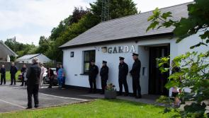 PICTURES | Ballymahon Garda Station leads the community in a minute's silence