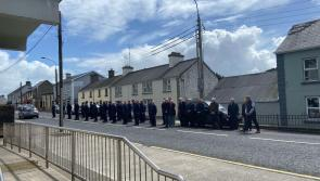 Granard gardaí express heartfelt thanks for the support during today's minute of silence for Detective Garda Colm Horkan