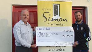 Fintan's marathon 320km cycle raises €6,033 for Midlands Simon Community