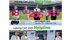 Leaving Certificate Helpline 2020 will deliver one to one advice