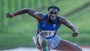 Longford athletics star Nelvin Appiah wins National Gold in the 110m Hurdles