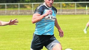 Former Longford player Peter Foy wins a Westmeath SFC medal with St Loman's Mullingar