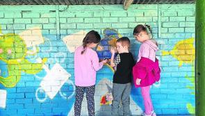 Longford Leader gallery: Scoil Bhríde Glen pupils create beautiful Eco Art mural project