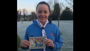 Longford girl's award winning postcard goes global