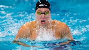 Outstanding Longford athlete Darragh Greene wins the 100m Breaststroke event at the Swim Ireland Winter Meet