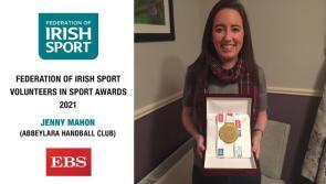 Abbeylara Handball Club stalwart Jenny Mahon receives Irish Sport Volunteer Longford Award