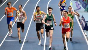 Longford athlete Cian McPhillips powers his way into semi-finals of 800 metres at European Indoor Championships in Poland