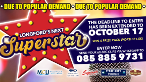 Don't forget to enter - €1,500 prize package for Longford's Next Superstar talent search