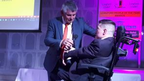 #Watch: Resilience and positivity of James Cawley inspires guests at Longford People of the Year Awards