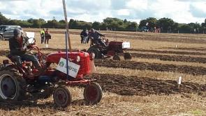 Longford competitor John King ploughs a vintage furrow at #Ploughing17