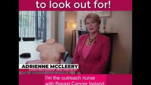 WATCH: Breast Cancer Ireland nurse goes through the eight signs and symptoms of breast cancer