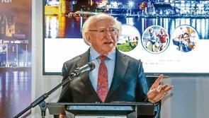 President Michael D Higgins addresses the nation through local media