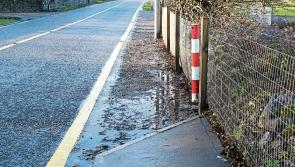 Work continues on Granard footpaths to continue in lead up to Christmas