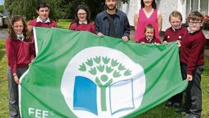 DJ raises Cloontuskert NS Green Flag