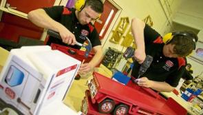 Apprentice carpenters make Christmas toys for South Tipp General Hospital