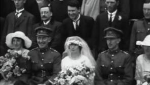 Colourised footage of the 1922 wedding of General Sean MacEoin and Alice Cooney at St Mel's Cathedral, Longford