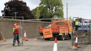 Footpath works continue at Chapel Street, Longford town