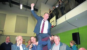 Micheál Carrigy elated upon election
