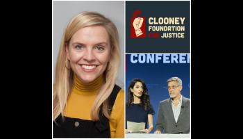 Huge appointment for Longford journalist as she links up with Amal  and George Clooney and the Clooney Foundation for Justice