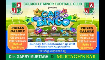 Prizes galore at Colmcille minor football club Car Bingo in Aughnacliffe on Sunday