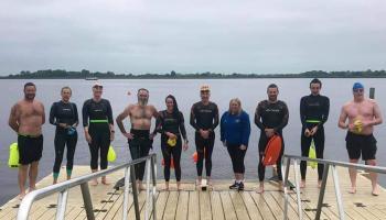 Lough Ree Orcas swimming group swim from Tarmonbarry toLanesboro