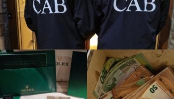 Luxury goods seized after 150 officers carry out CAB raid