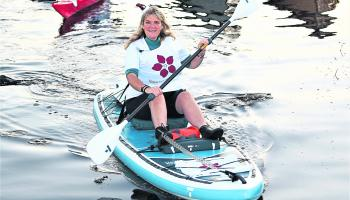 Longford musician Barbara Dowling completes Lough Ree paddle fundraiser for huge 'Christmas in June' concert