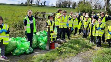 PICTURES: Community Garda joins Glen national school pupils on litter-picking rounds