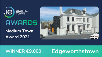 Brilliant win for Edgeworthstown at the .IE Digital Town Awards 2021