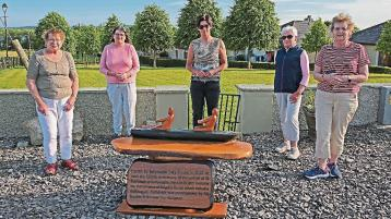 Longford Leader gallery: Ballyleague Tidy Towns unveil new St Faithleach sculpture