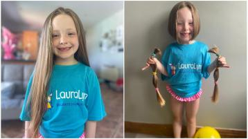 Caitlin's Locks of Love for LauraLynn - Longford girl in fundraiser to help make wigs for sick children