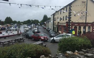 Uachtarán na hÉireann, Michael D Higgins arrives in Longford to unveil commemorative plaque at Clondra Harbour