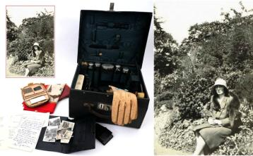 Vanity case and photographs belonging to Longford woman Kitty Kiernan expected to fetch in excess of €5,000 at auction