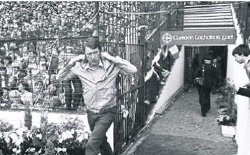 Managerial mastermind: Eugene McGee steps out onto Croke Park on September 19, 1982 as he guided his Offaly team to glory over Kerry in the All-Ireland SFC Final