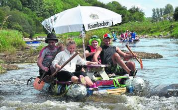 The very imaginative Skelly's Bar raft, which made its way down the River Inny for last year's race Picture: Sean Clancy