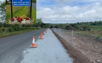 Longford community rallies to launch gofundme fundraiser for completion of Ballinamuck footpath