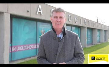 WATCH   Former Longford Town supremo Stephen Kenny urges people to 'look after ourselves, by looking after each other'