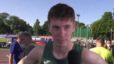 WATCH  | Longford star Cian McPhillips 'a bit shocked' that he managed to strike gold at European U20 Championship
