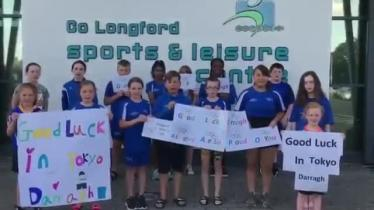 WATCH | Longford swimming club bursting with pride as it gets behind Darragh Greene and wishes him well in Olympic Games
