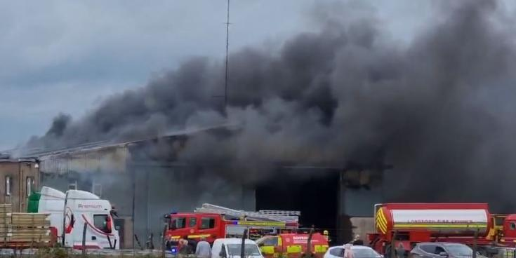 Emergency services in Longford at scene of significant Drumlish fire