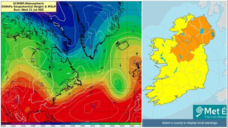 Longford set to sizzle as Met Éireann issues heatwave warning - Mount Dillon recorded highest temperature in country yesterday