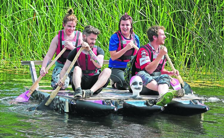 Pictures: The craic was mighty on the River Inny for the Ballymahon Raft Race